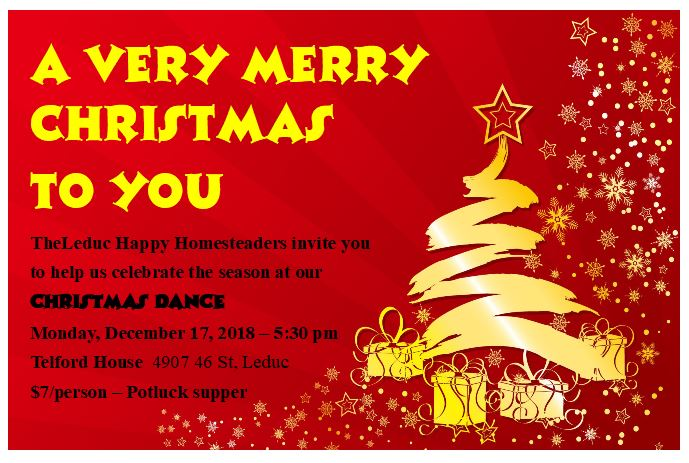 Christmas Potluck.Christmas Potluck Leduc Square Dance